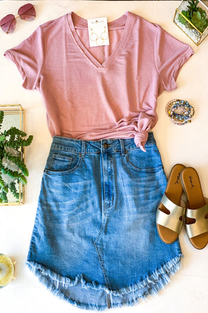 In The Air Mauve Tee