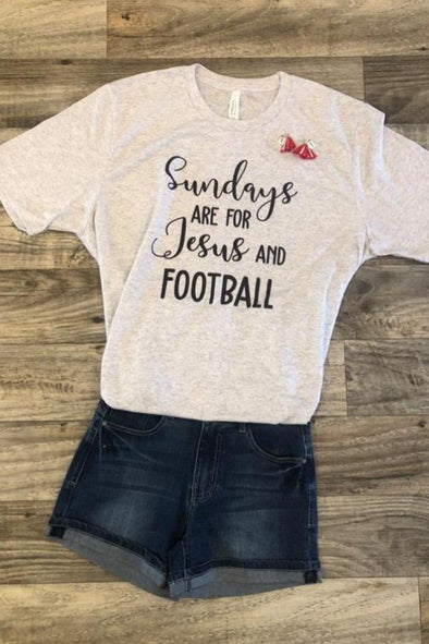 Sundays Are For Jesus and Football Tee