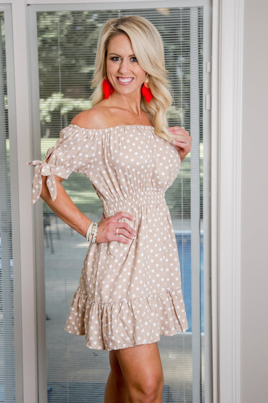 Ruffled In Polka Dot Dress