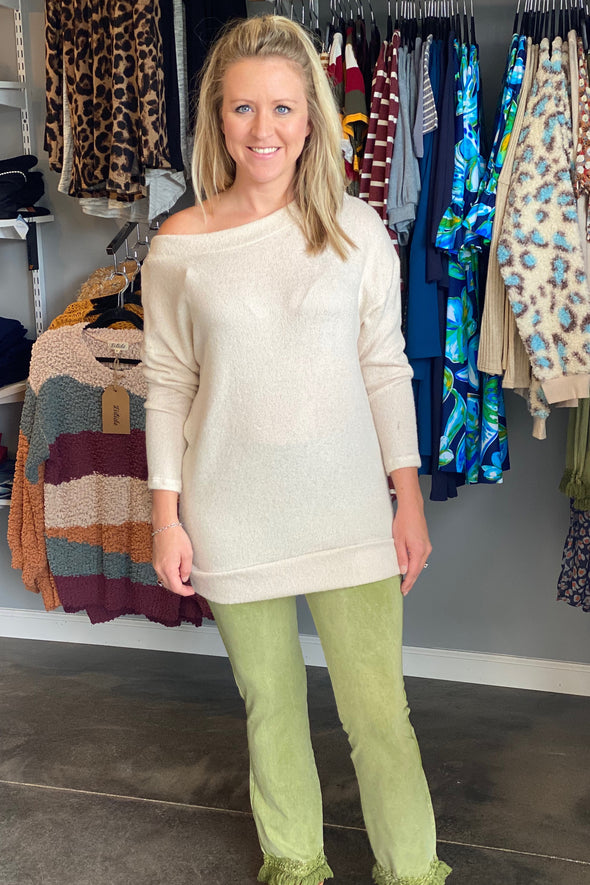 Dress The Part Cream Sweater
