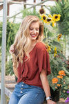 Feelin' Like Fall Button Top