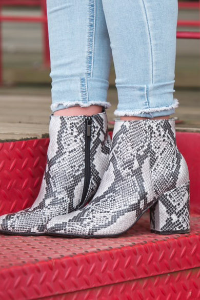 Steal the Show Snake Booties