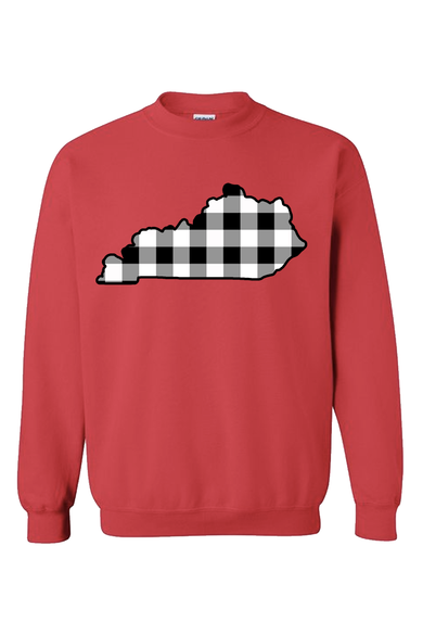 KY Buffalo Plaid Crewneck