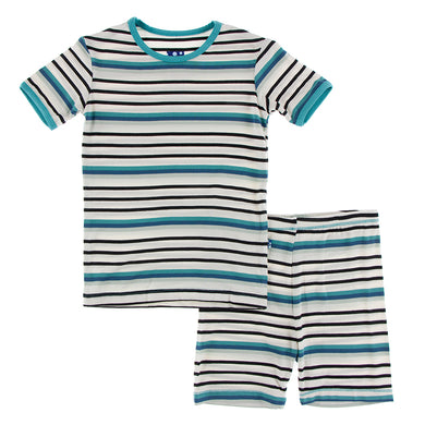 Neptune Stripe pj short set