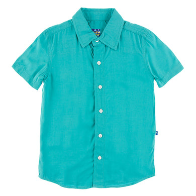 Neptune Solid Short Sleeve Button Down Shirt