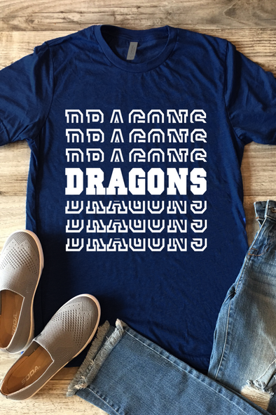 Dragons Split Stack Tee
