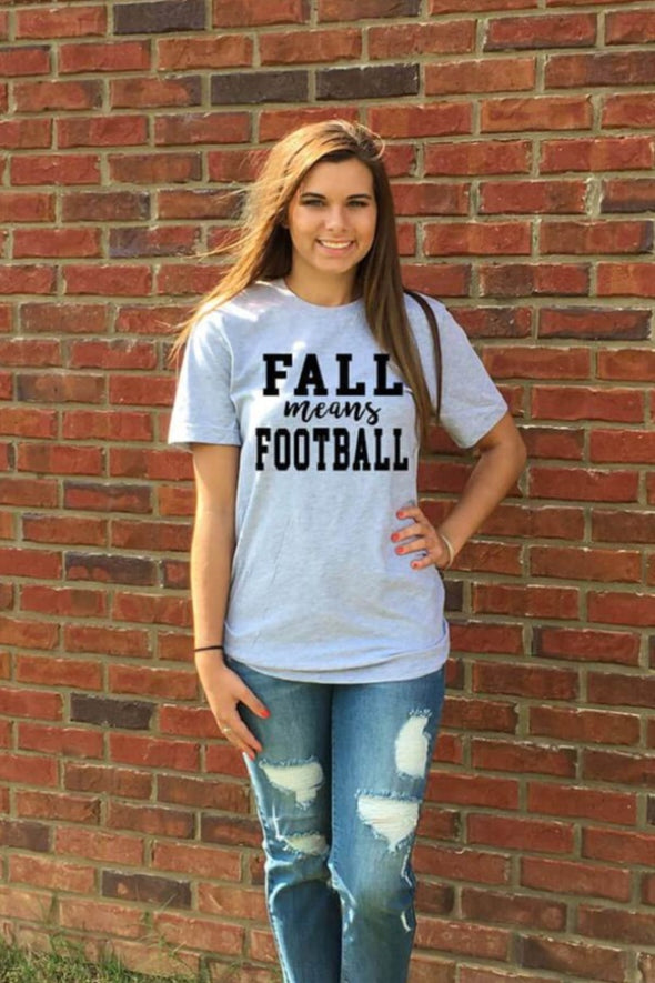 Fall Means Football Tee
