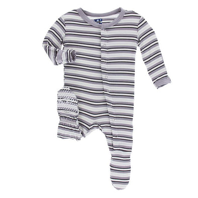India Stripe Footie with Zipper