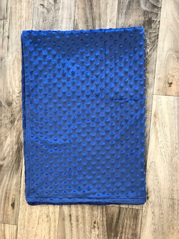 Royal blue baby minky blanket