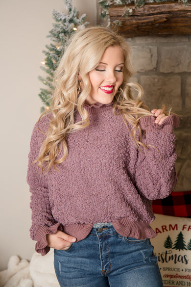 Shake The Chill Off Popcorn Sweater