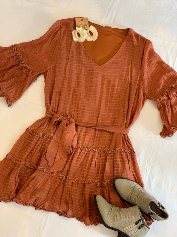 Let This Go Rust Dress