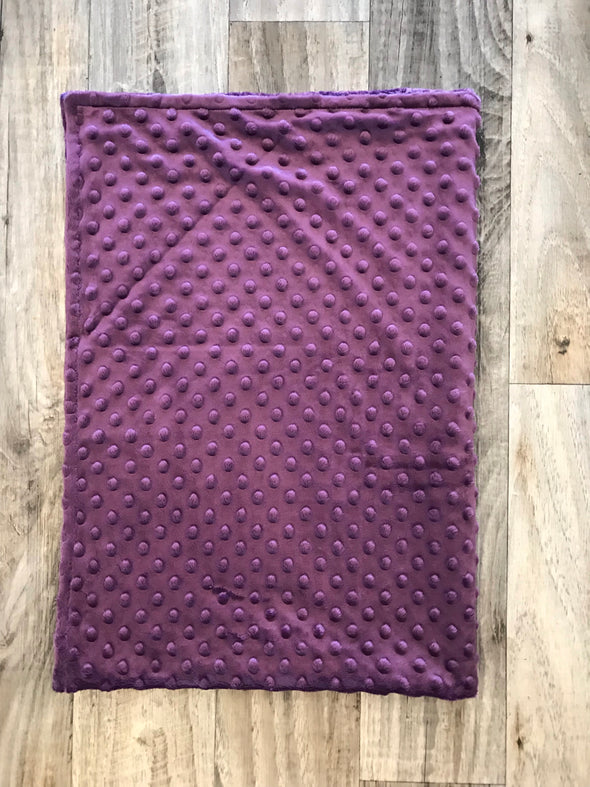 Purple baby minky blanket