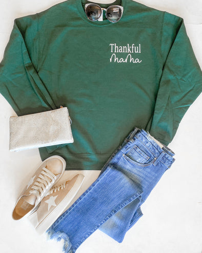 Thankful Mama Crewneck