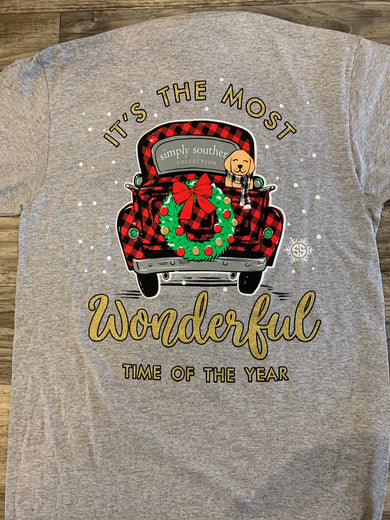 Most Wonderful Time of the Year Simply Southern Tee