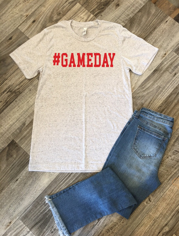 Graphic tee for game day