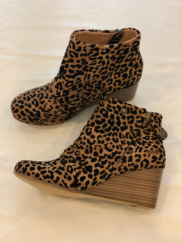 Berkeley Leopard Wedge Booties