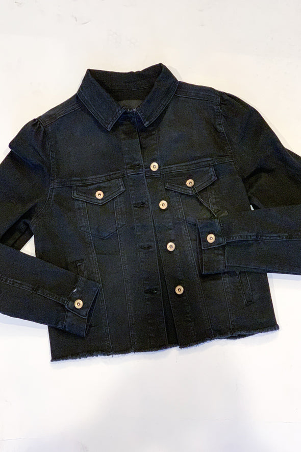 Jet Setter Black Denim Jacket