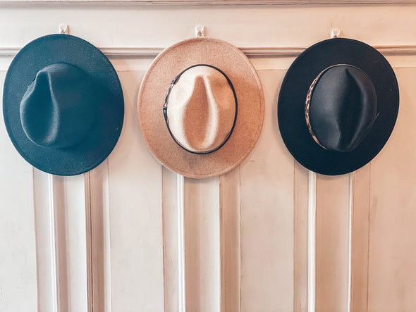 Prancing In Panama Leather Buckle Hat