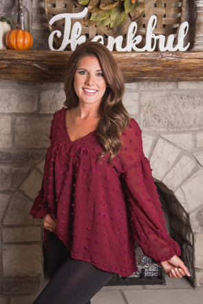 Endless Possibilities Burgundy Top
