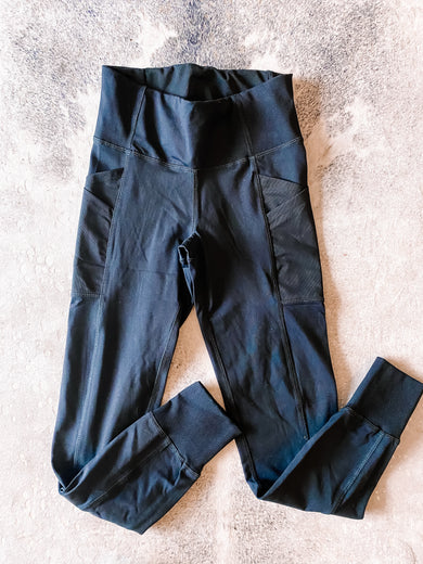 On The Run Black Pocket Leggings