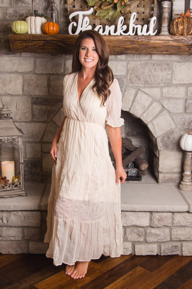 Chic Champagne Maxi Dress