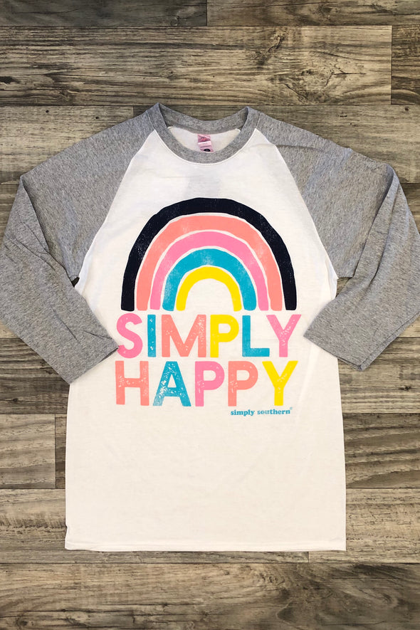 Simply Happy Raglan Tee