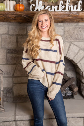Designed To Align Knit Sweater