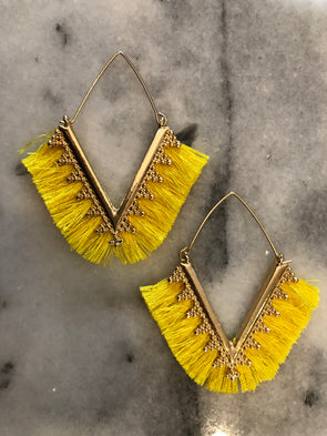 Take Me There Yellow Earrings