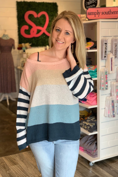 Loving Memories Stripe Sweater