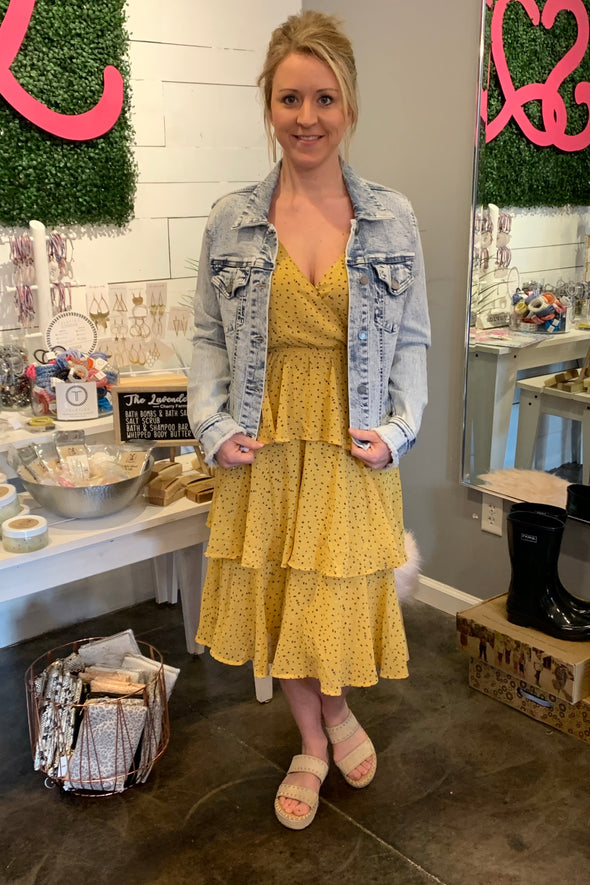 Sunshine Gal Midi Cami Dress
