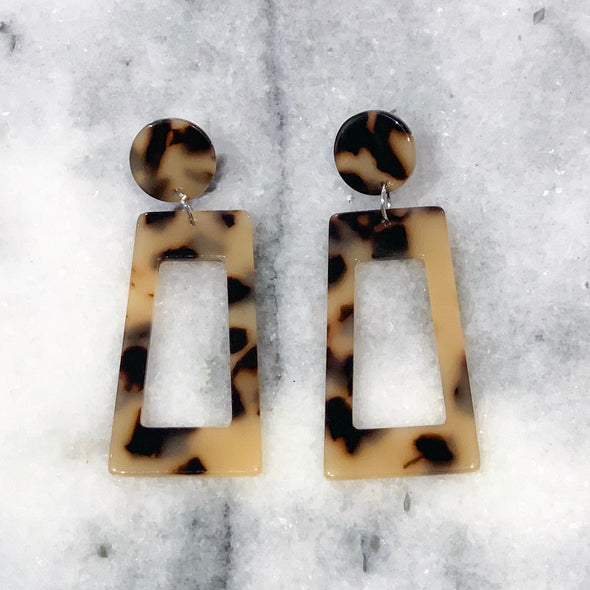 Drop of Truth Leopard Earrings