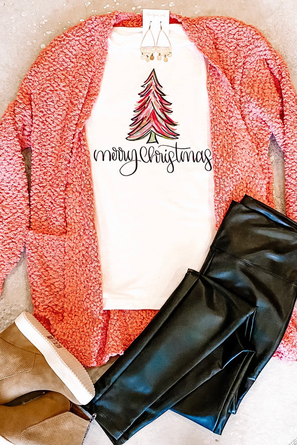 Merry Christmas Bright Tree Tee