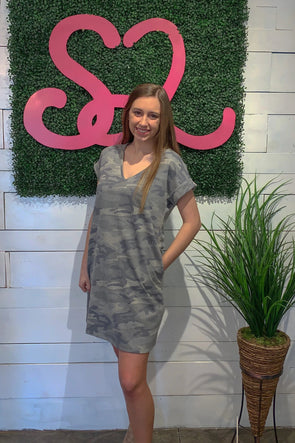 Relaxed In Camo Dress