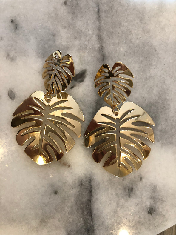 Touch of Tropical Gold Earrings