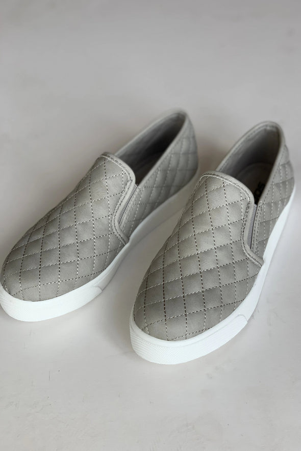 Crazy Over Grey Slip Ons
