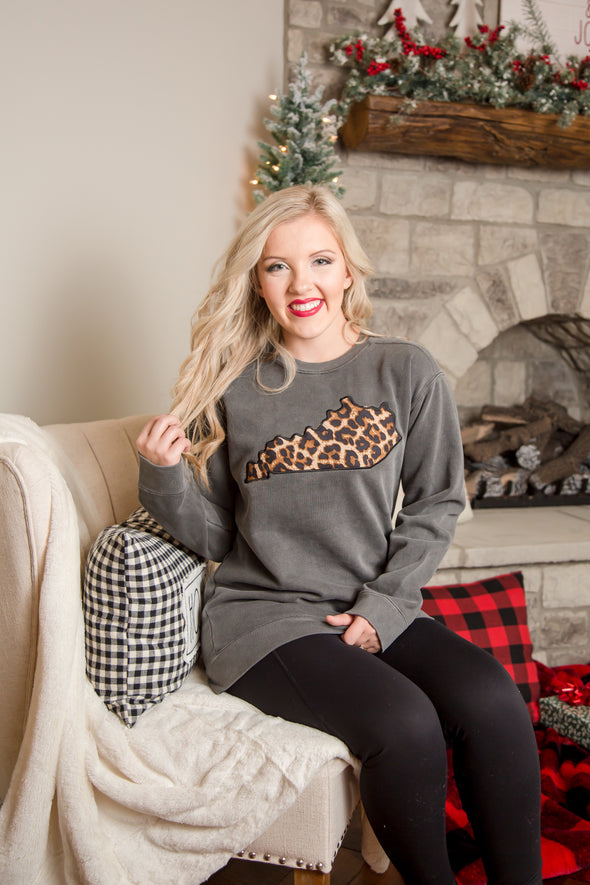 Leopard Kentucky Sweatshirt