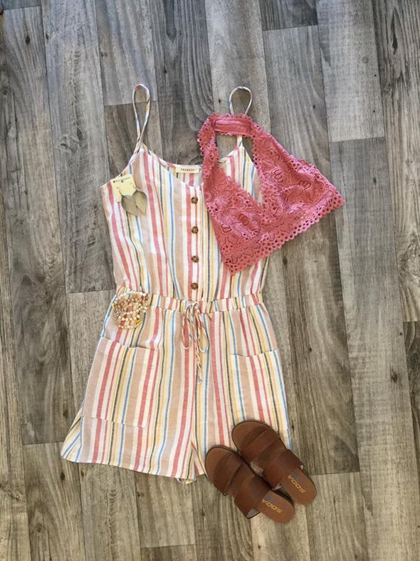 Summer Winds Stripe Romper
