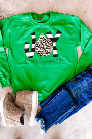 Joy Leopard Ornament Sweatshirt