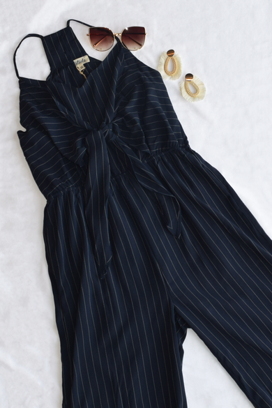 Midnight Stripe Jumpsuit