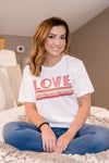LOVE Multi Stripe Tee