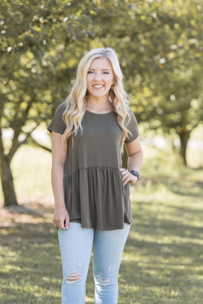 Simply Go Peplum Top