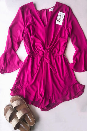 Effortless Appeal Bell Sleeve Romper