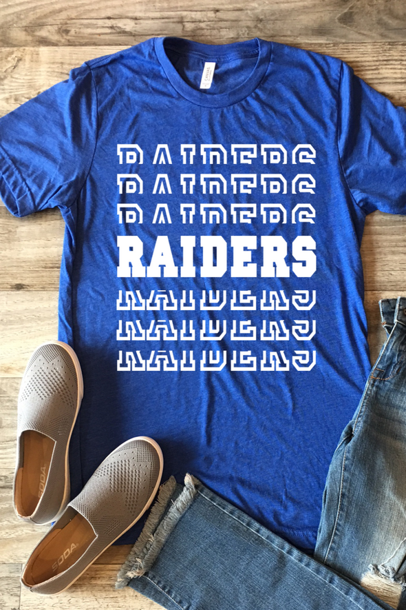 Raiders Split Stack Tee