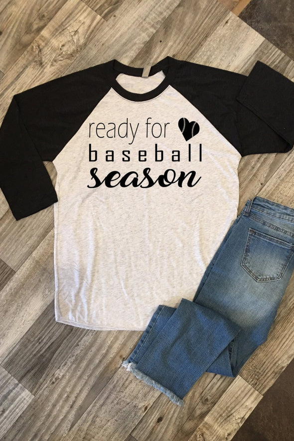 Ready For Baseball Season Baseball Sleeve Tee