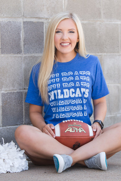 Wildcats Split Stack Tee