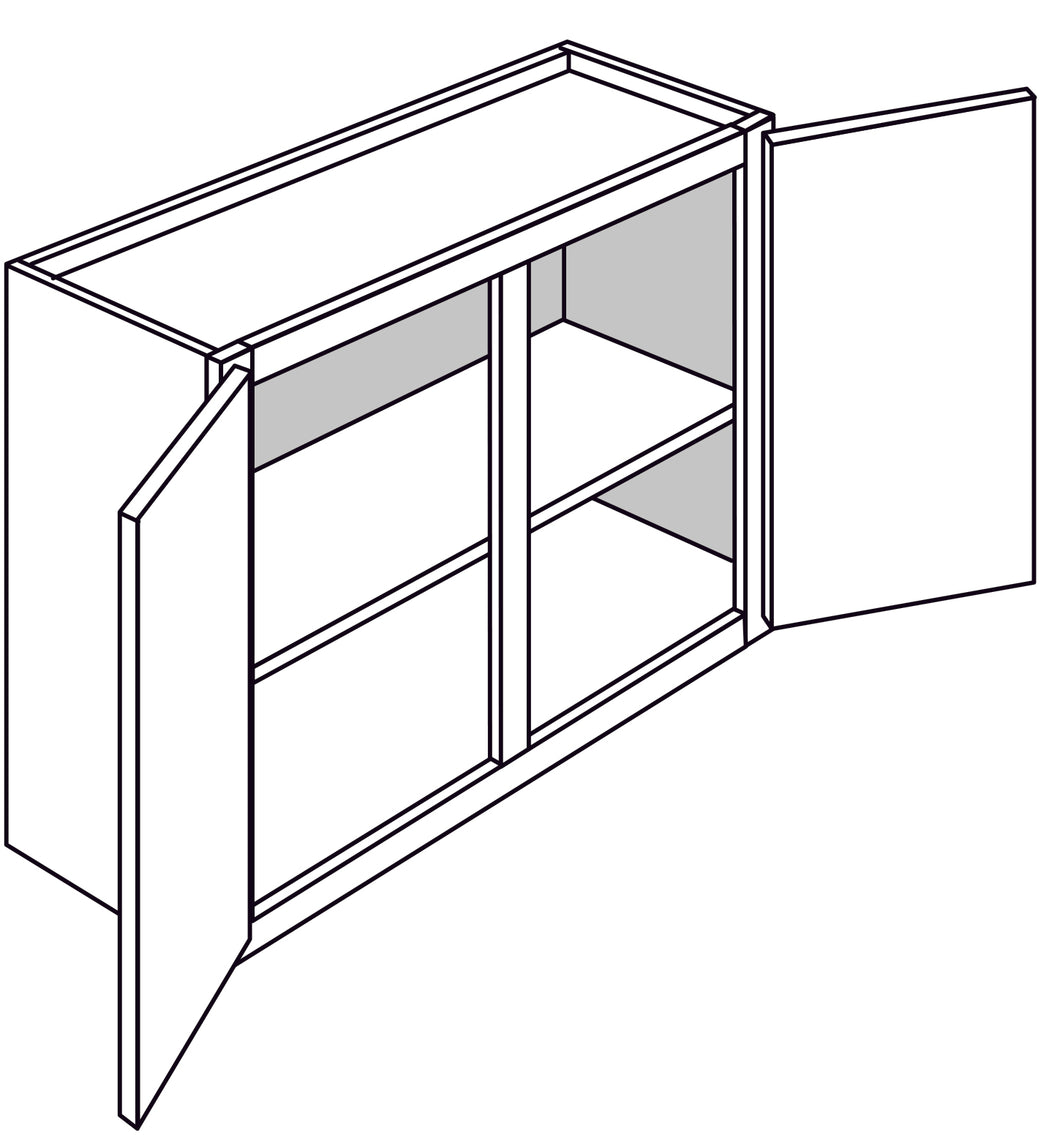 PLYMOUTH WALL BRIDGE CABINETS: 24