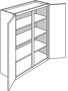 "PLYMOUTH WALL CABINETS: 42""H WALL 2 DOOR Width: 33 