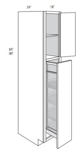 DOVER TALL CABINETS WITH PULL OUT: 18