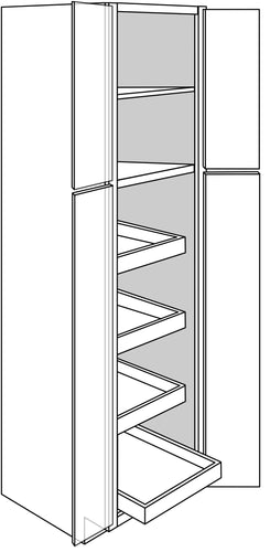 DOVER TALL CABINETS WITH ROLLOUTS: 24