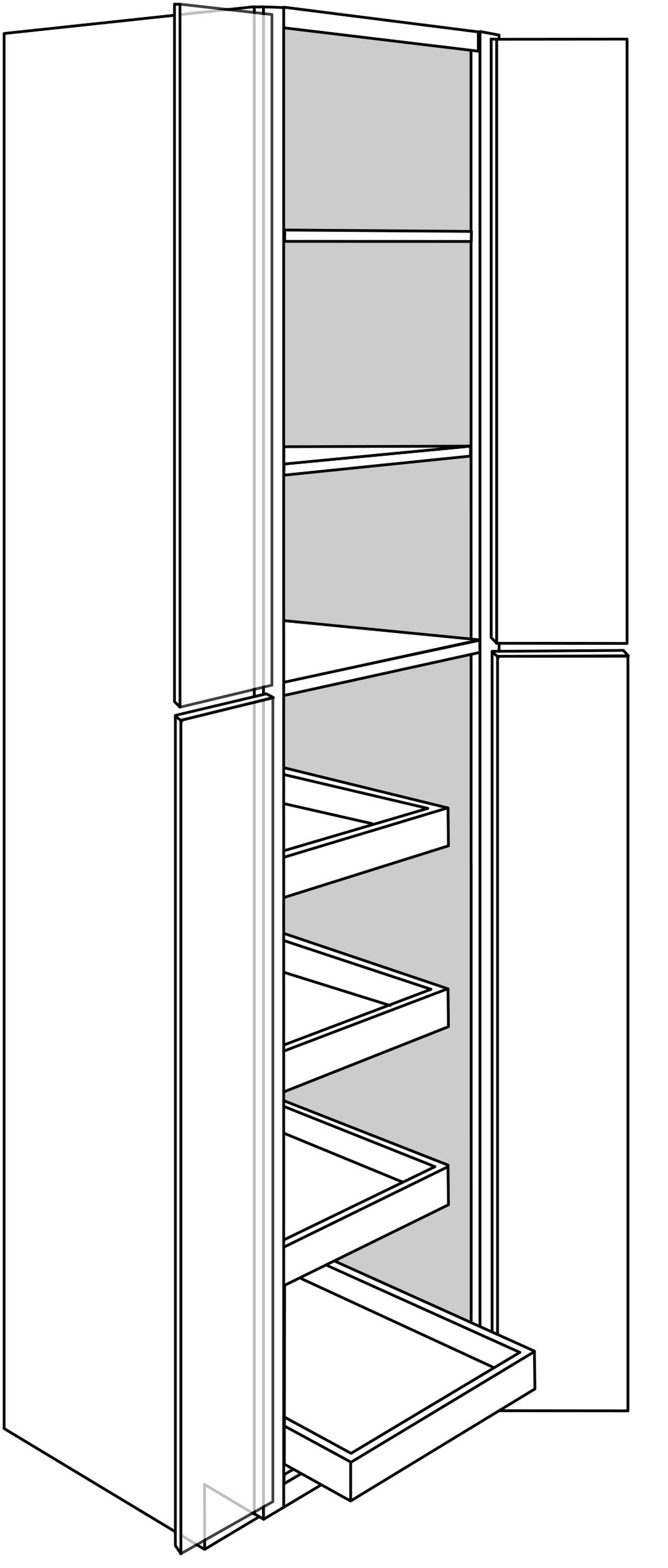 QUINCY TALL CABINETS WITH ROLLOUTS: 24